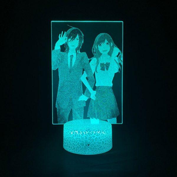 3D Picture Lamp Anime Nightlight RGB Color Horimiya Alarm Clock Base Bedside Fans Around Room DecorTeenager 2 - Horimiya Merch Store