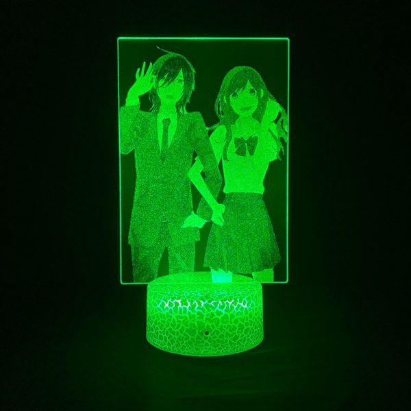 3D Picture Lamp Anime Nightlight RGB Color Horimiya Alarm Clock Base Bedside Fans Around Room DecorTeenager 4 - Horimiya Merch Store
