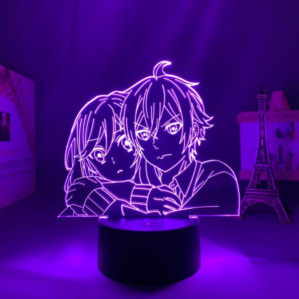 3d Led Light Anime Hori San To Miyamura Kun for Bedroom Decor Night Light Kids Brithday 1 - Horimiya Merch Store