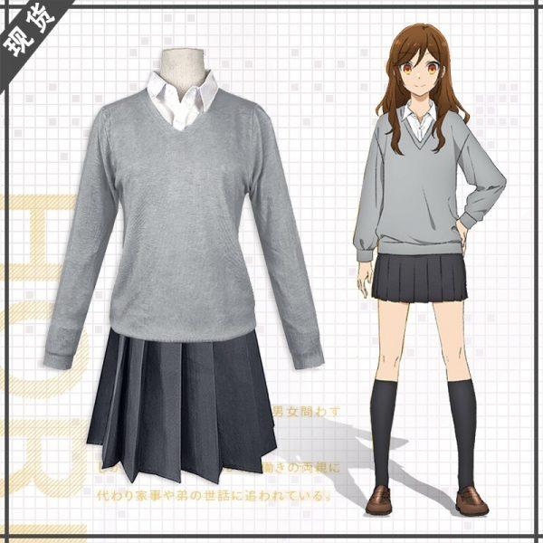 Anime Hori san to Miyamura kun Horimiya Miyamura Izumi Hori Kyoko Cosplay Costumes High School Uniform 1 - Horimiya Merch Store