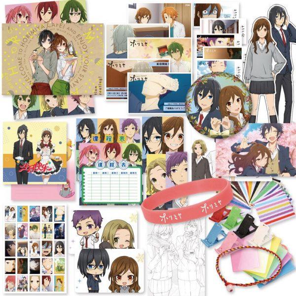 Horimiya Anime Lucky Gift Bag Collection Toys With Postcard Poster Badge Stickers Bookmark DIY Anime Lovers 2 - Horimiya Merch Store
