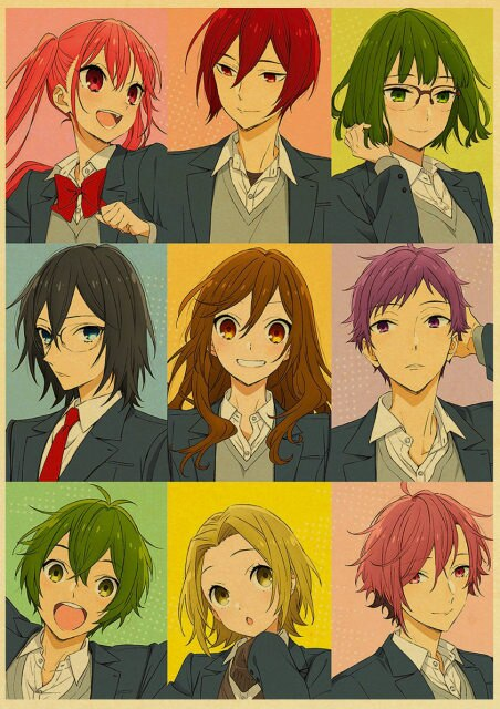 Retro Kraft Paper Japanese Anime Horimiya Poster Painting Brown Paper Drawing Core Hanging Picture Home Art 11.jpg 640x640 11 - Horimiya Merch Store