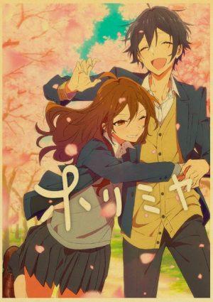 Retro Kraft Paper Japanese Anime Horimiya Poster Painting Brown Paper Drawing Core Hanging Picture Home Art 14.jpg 640x640 14 - Horimiya Merch Store