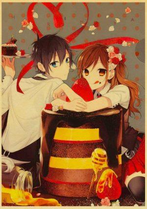 Retro Kraft Paper Japanese Anime Horimiya Poster Painting Brown Paper Drawing Core Hanging Picture Home Art 15.jpg 640x640 15 - Horimiya Merch Store