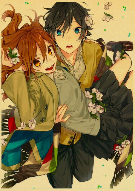 Retro Kraft Paper Japanese Anime Horimiya Poster Painting Brown Paper Drawing Core Hanging Picture Home Art 20.jpg 640x640 20 - Horimiya Merch Store