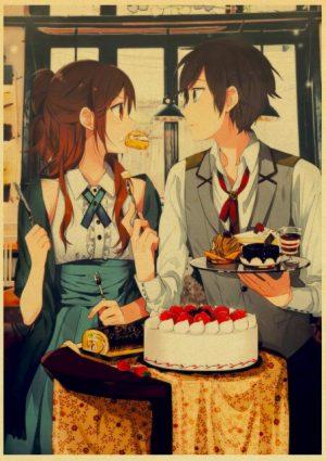 Retro Kraft Paper Japanese Anime Horimiya Poster Painting Brown Paper Drawing Core Hanging Picture Home Art 21.jpg 640x640 21 - Horimiya Merch Store