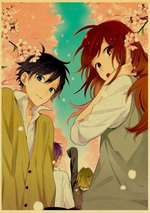 Retro Kraft Paper Japanese Anime Horimiya Poster Painting Brown Paper Drawing Core Hanging Picture Home Art 22.jpg 640x640 22 - Horimiya Merch Store