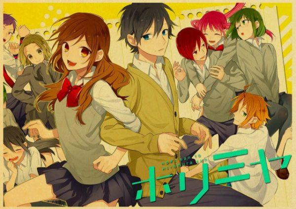 Retro Kraft Paper Japanese Anime Horimiya Poster Painting Brown Paper Drawing Core Hanging Picture Home Art 5.jpg 640x640 5 - Horimiya Merch Store