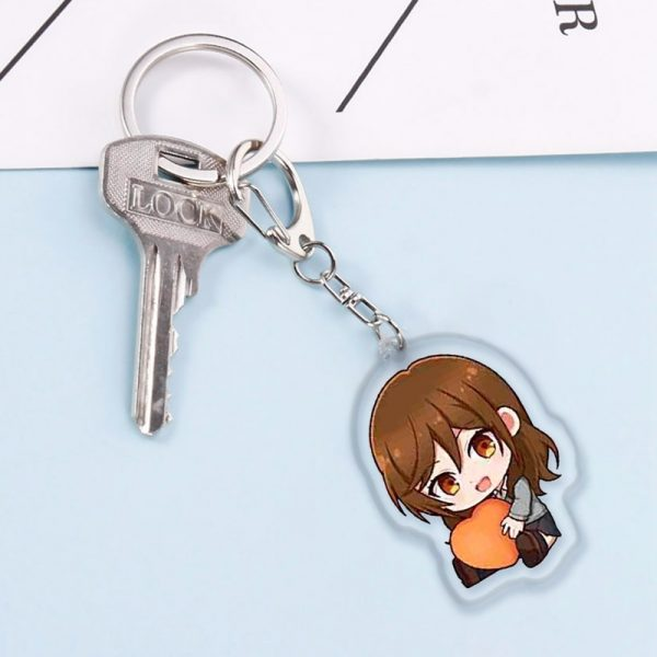 Anime Keychains Accessories Horimiya Hori San To Miyamura Kun Hori Kyouko Miyamura Izumi Acrylic Pendant Key 2 - Horimiya Merch Store