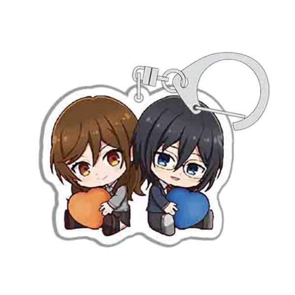 Anime Keychains Accessories Horimiya Hori San To Miyamura Kun Hori Kyouko Miyamura Izumi Acrylic Pendant Key 3 - Horimiya Merch Store