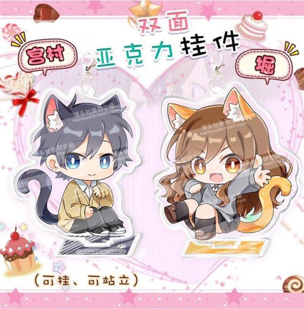 Cute Anime Horimiya Hori san to Miyamura kun Hori Kyouko Miyamura Izumi Acrylic Pendant Keychain Stand 1 - Horimiya Merch Store
