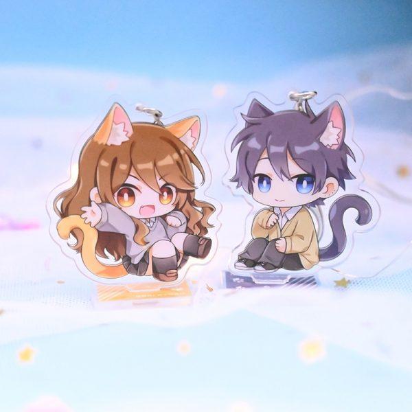 Cute Anime Horimiya Hori san to Miyamura kun Hori Kyouko Miyamura Izumi Acrylic Pendant Keychain Stand - Horimiya Merch Store