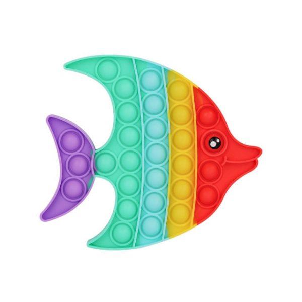rainbow fish pop it fidget simple dimple anti stress toy - Horimiya Merch Store